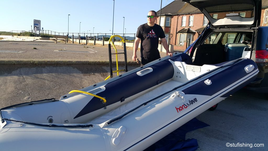 First time in the honda honwave t38 ie inflatable boat for Blow up fishing boat