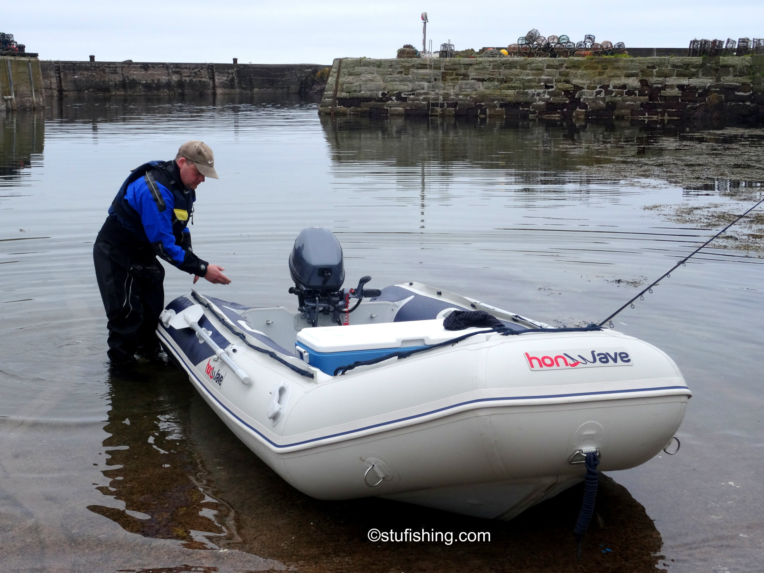 Testing the Honda Honwave T38 and Outboards at St Abbs