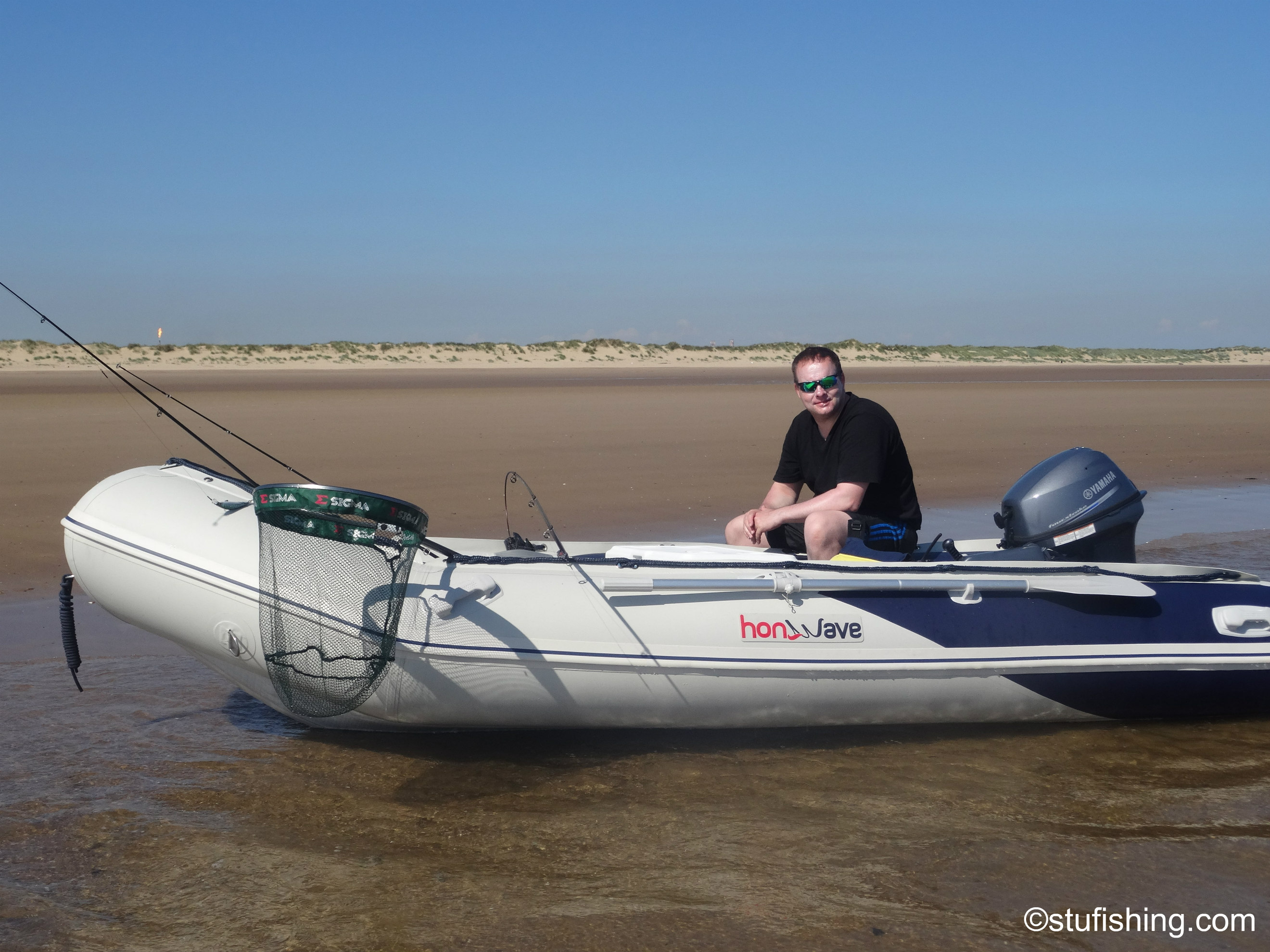 First Time in the Honda Honwave T38 IE Inflatable Boat