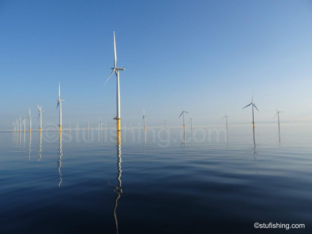 Sea Fishing Session at Redcar - Redcar wind farm