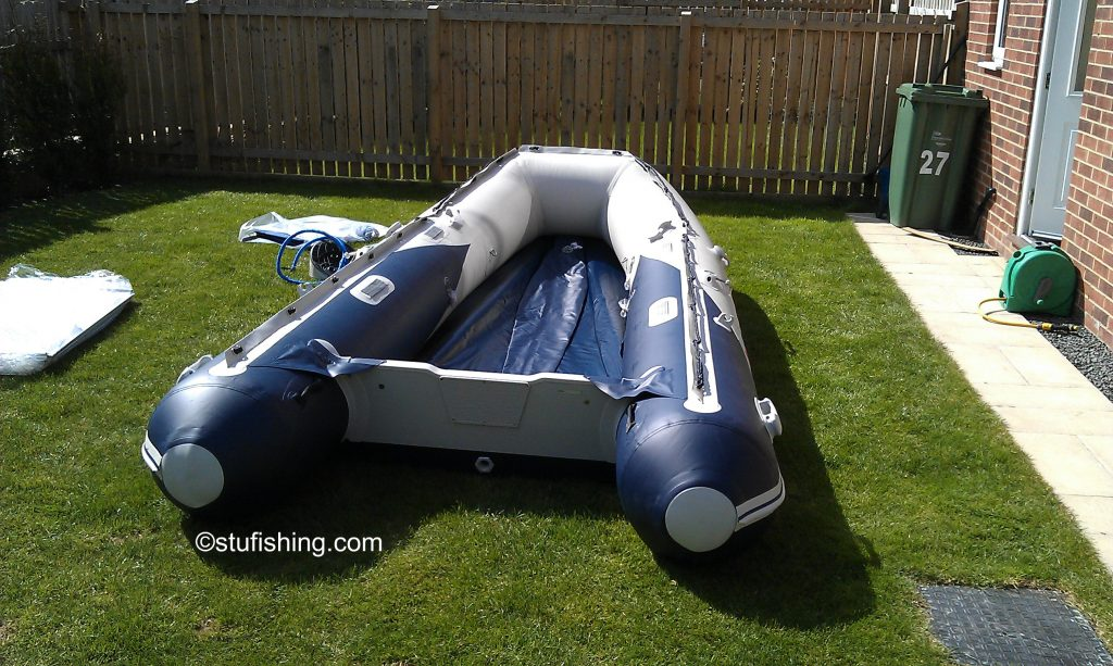 The Honda Honwave T40-AE Inflatable Boat garden rear view