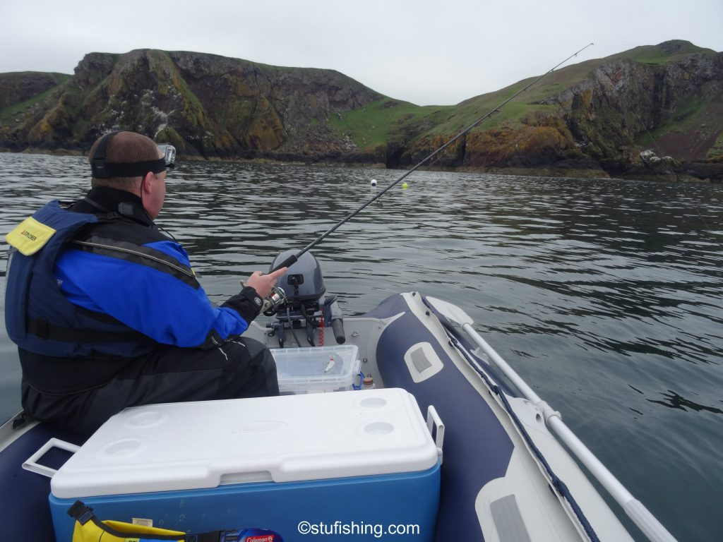 Honda Honwave T38 inflatable boat at St Abbs