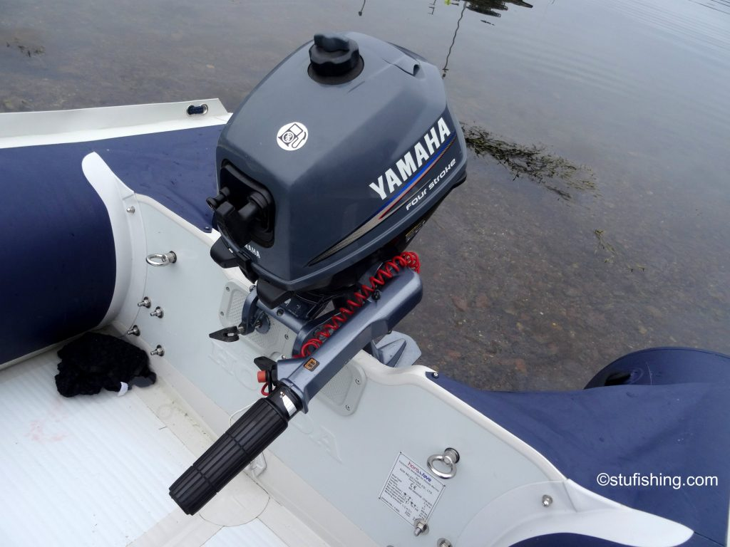 Honda Honwave T38 inflatable boat and Yamaha 2.5 top view