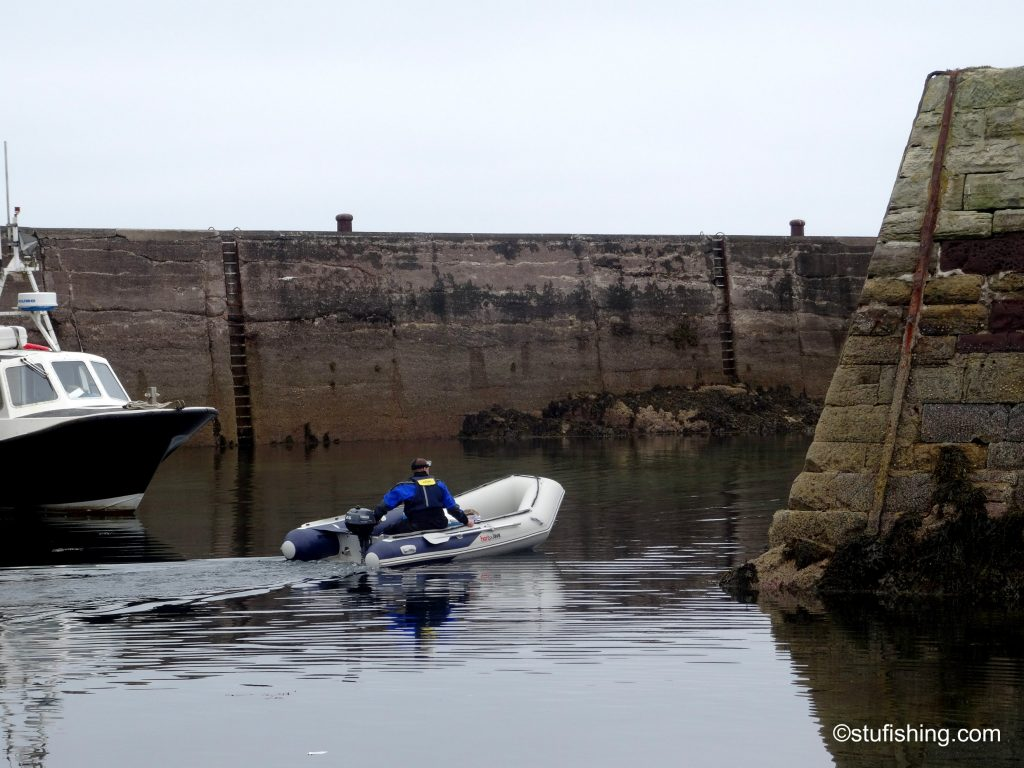 Honda Honwave T38 inflatable boat at St Abbs harbour