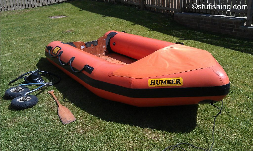 Humber inflatable boat front view