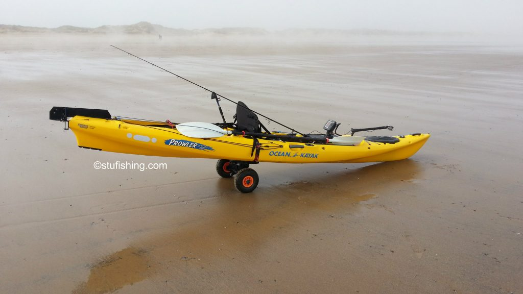 Ocean Kayak Prowler Ultra 4.3 Fishing Kayak at Redcar Beach