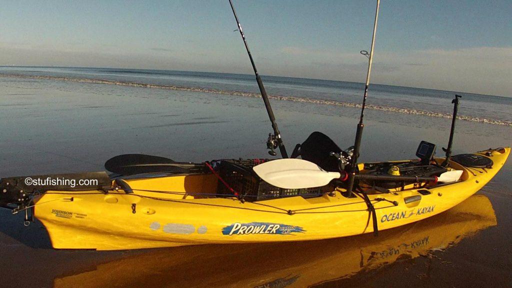 Ocean Kayak Prowler Ultra 4.3 Fishing Kayak on beach