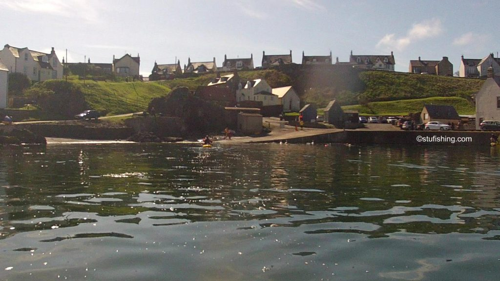Kayak Fishing at St Abbs Back in the Harbour