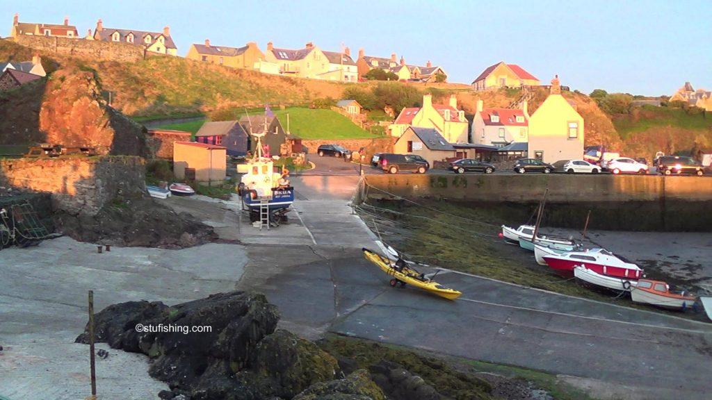 St Abbs Kayak Fishing the Slipway