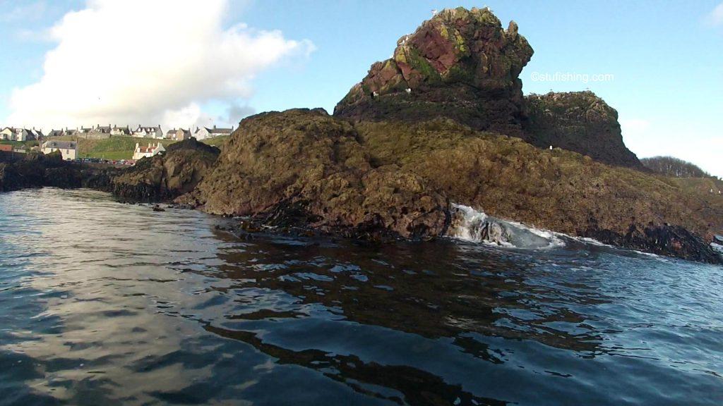 Kayak Fishing at St Abbs nice rock formation
