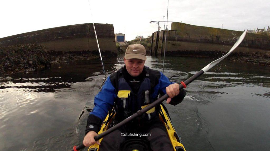 St Abbs Kayak Fishing Setting Off