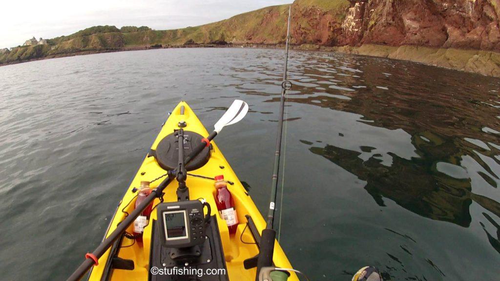 St Abbs Kayak Fishing Waiting to Catch