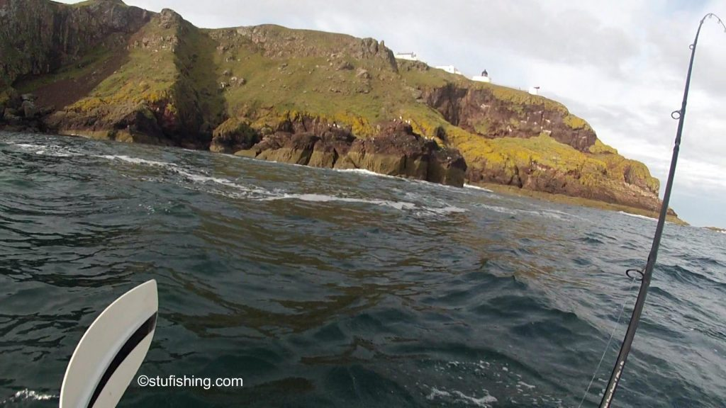 St Abbs Kayak Fishing the Cliffs