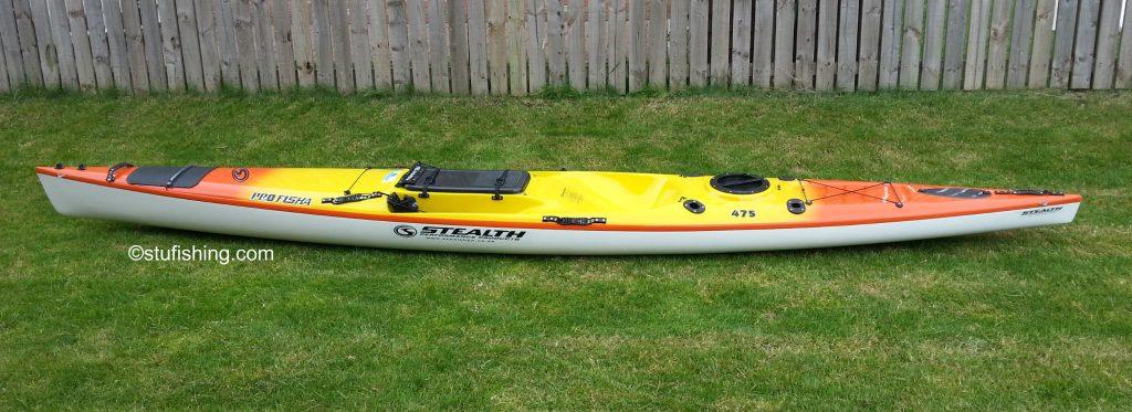 Stealth Kayaks - Profisha 475 Fishing Kayak side view