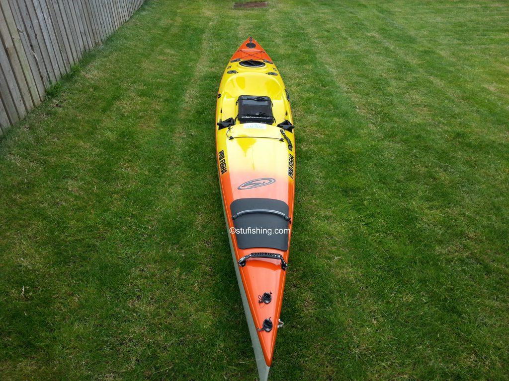 Stealth Kayaks - Profisha 475 Fishing Kayak front view