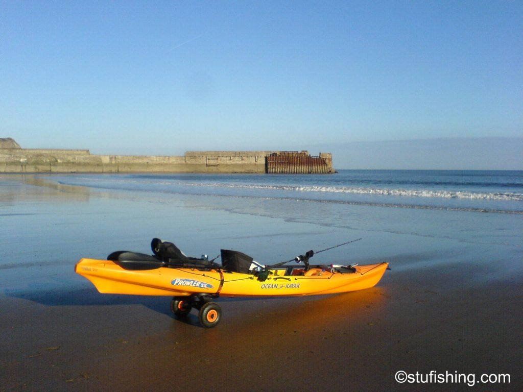 Ocean Kayak Prowler Elite 4.5 Fishing Kayak Skinningrove side view