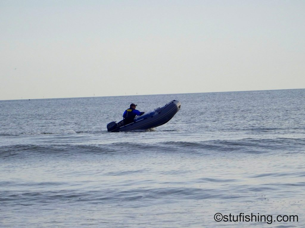 The Seapro 340 Inflatable Boat at Redcar