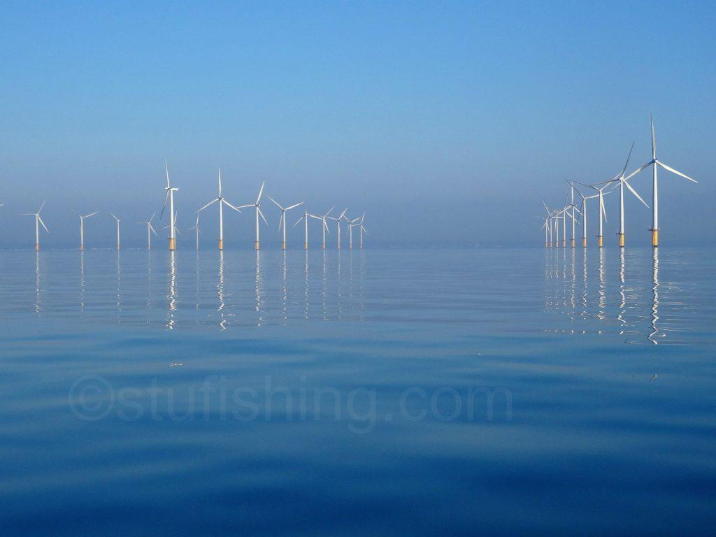Kayak Fishing Redcar wind farm 2