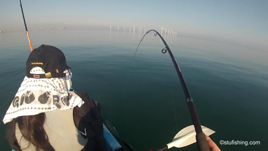 Kayak Fishing Redcar fish on