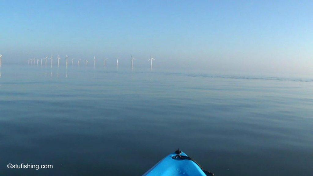 Kayak Fishing Redcar wind farm