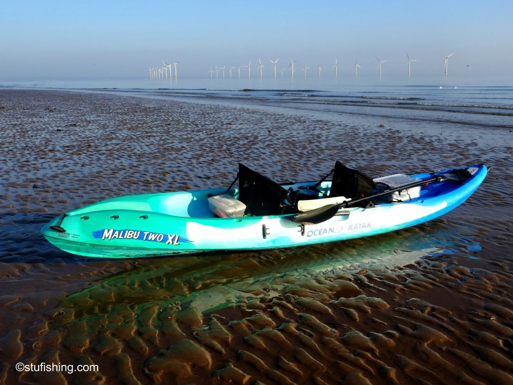 Ocean Kayak Malibu 2XL Fishing Kayak Redcar beach