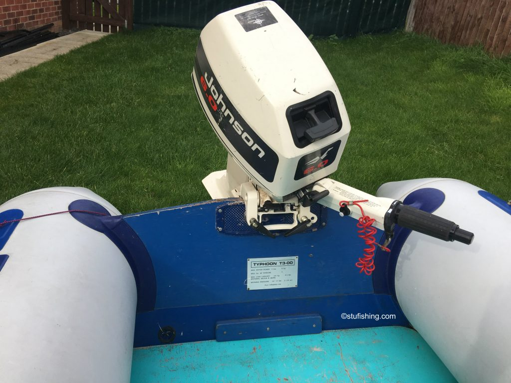 Avon Typhoon Inflatable Boat transom view