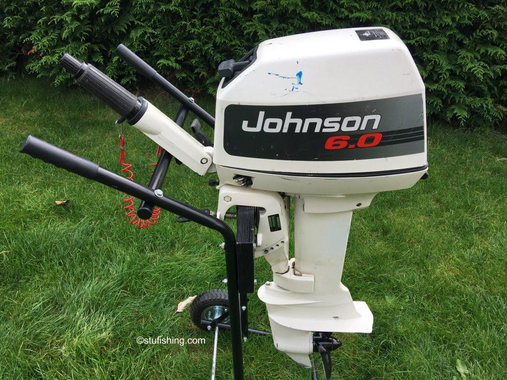 Johnson Outboard Motor 6hp 2 Stroke side view garden