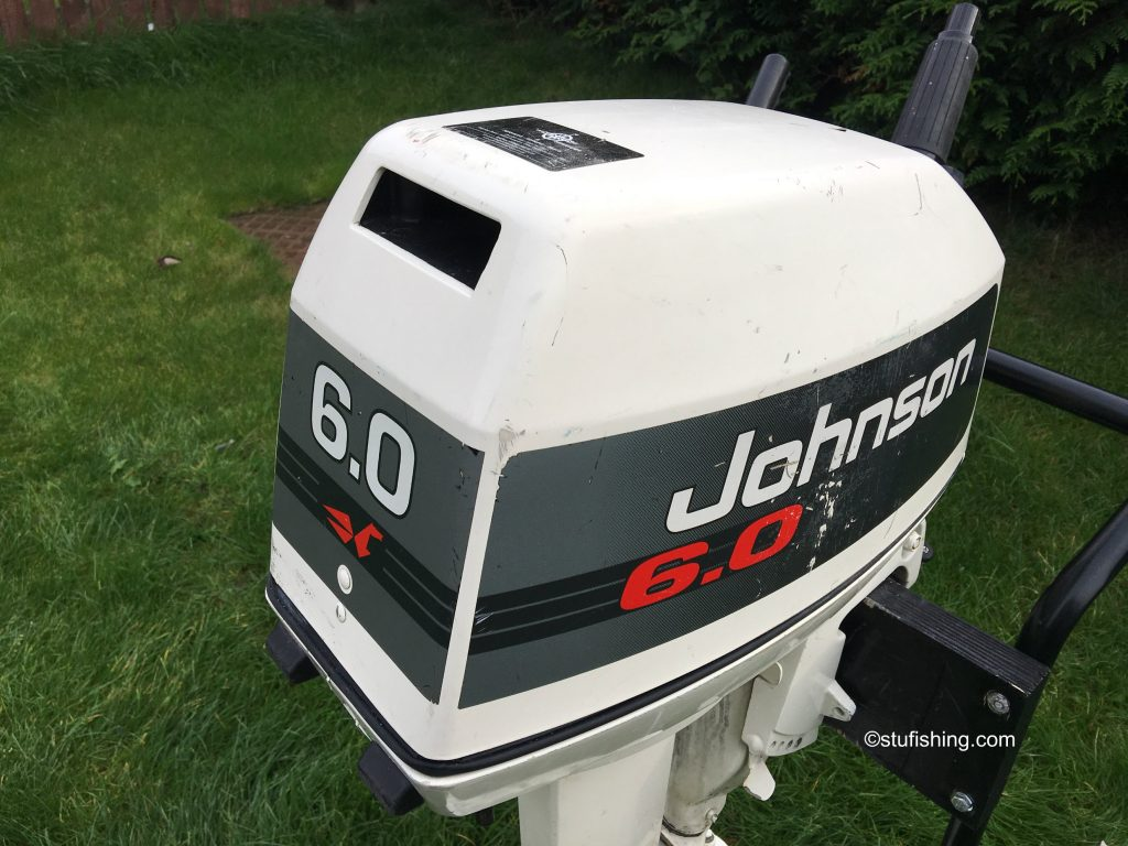 Johnson Outboard Motor 6hp 2 Stroke close up view