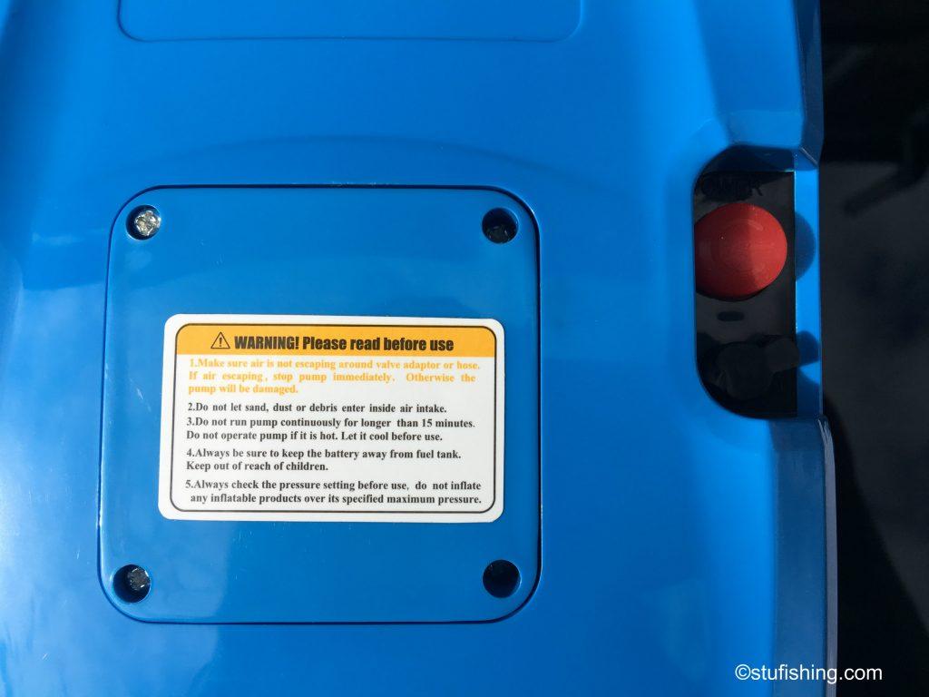 Genovo inflatable boat pump